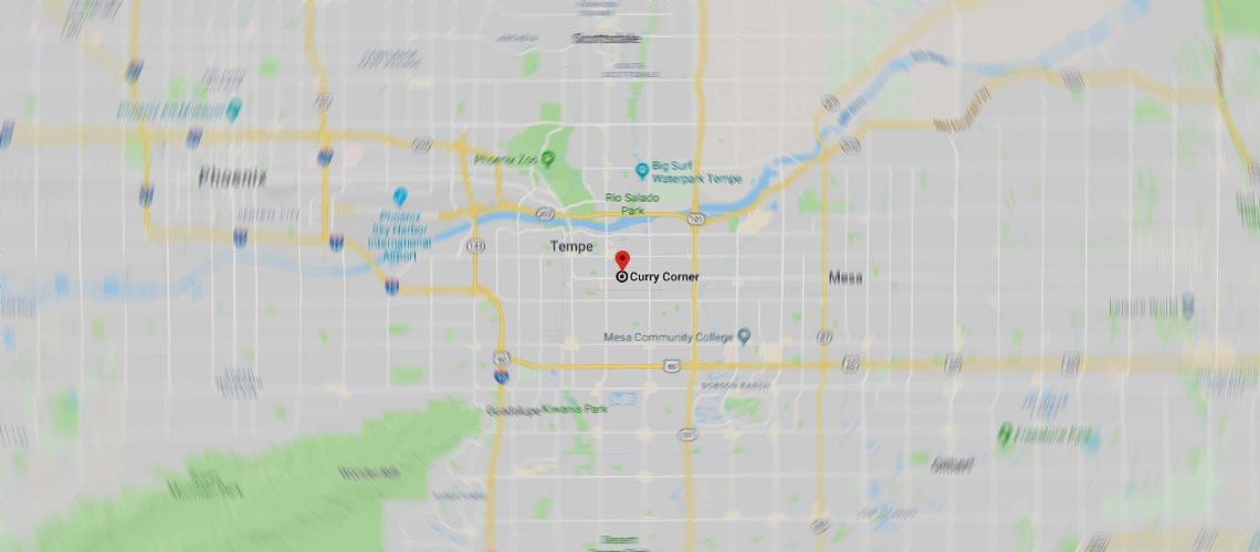Google Map location for Curry Corner Tempe Arizona